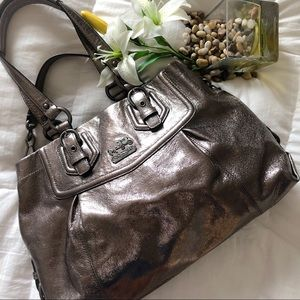 Coach Metallic Shoulder / Hand Bag